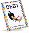 free debt PLR articles